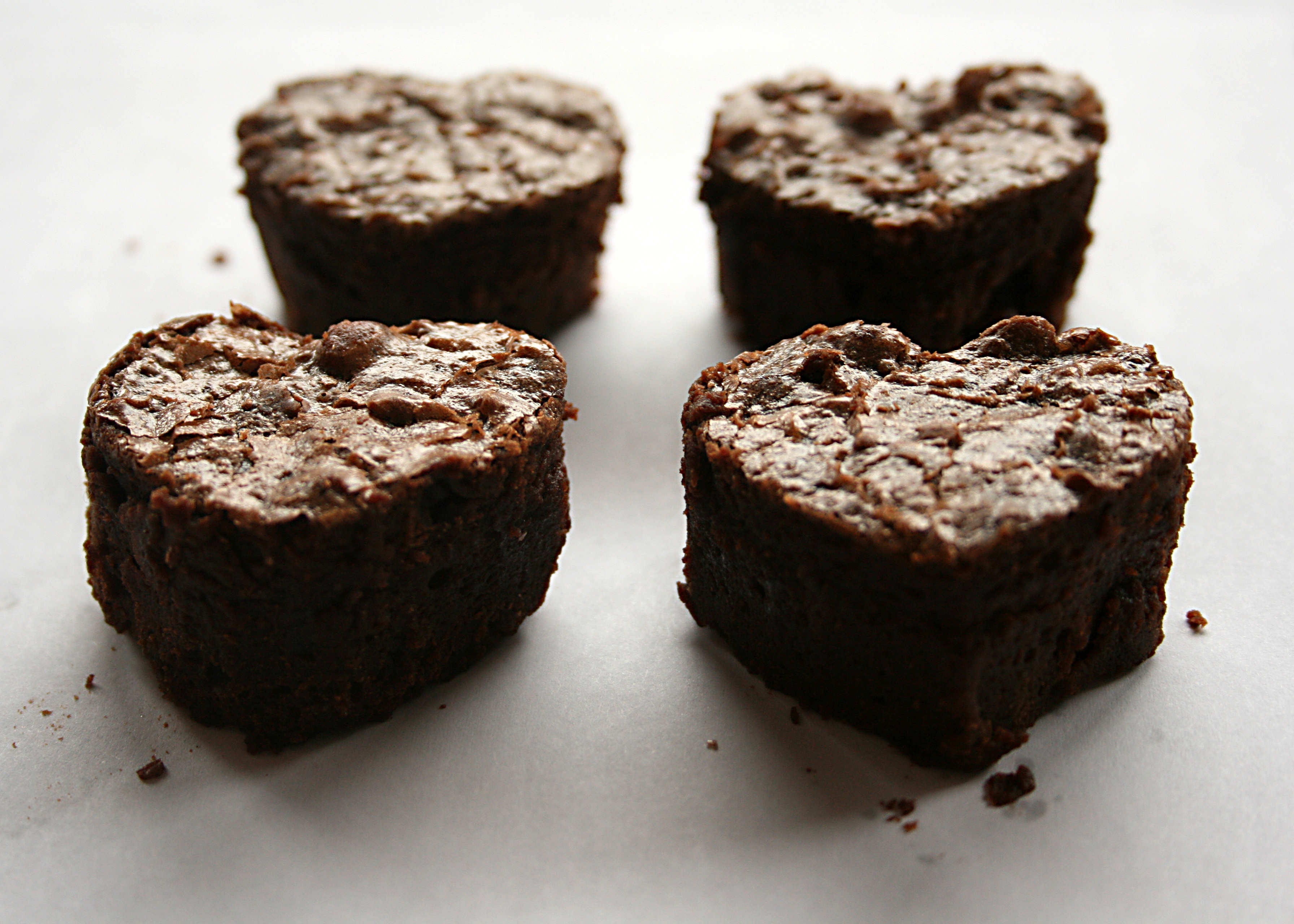get cute little brownies like this. It is good to cut out the brownies ...