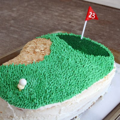 Beginner Golf Cake Shaped Like A Fairway