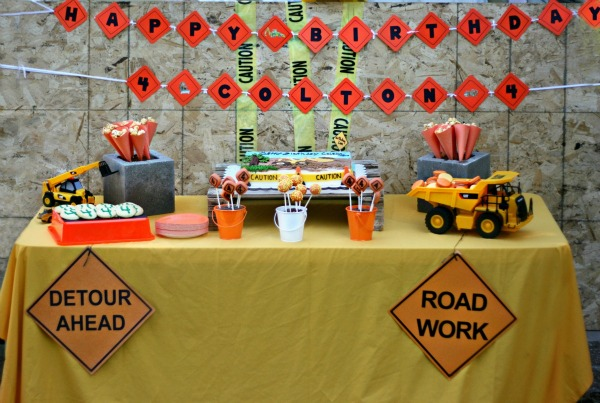Construction Party Dessert Table Desserts Designs Des Moines