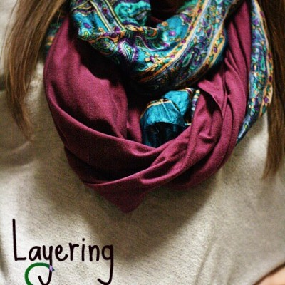 Layering Scarves