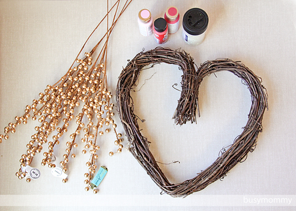 DIY Berry Heart Wreath