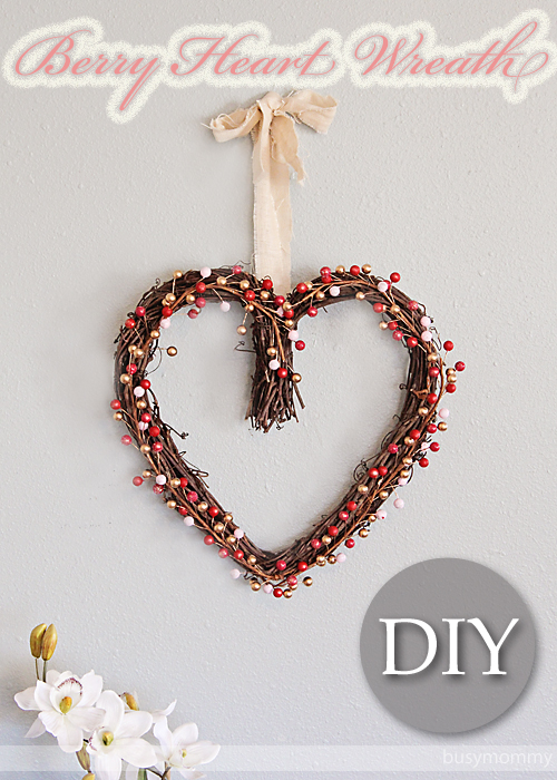 DIY Berry Heart Wreath! Pretty Valentine's Day Decor