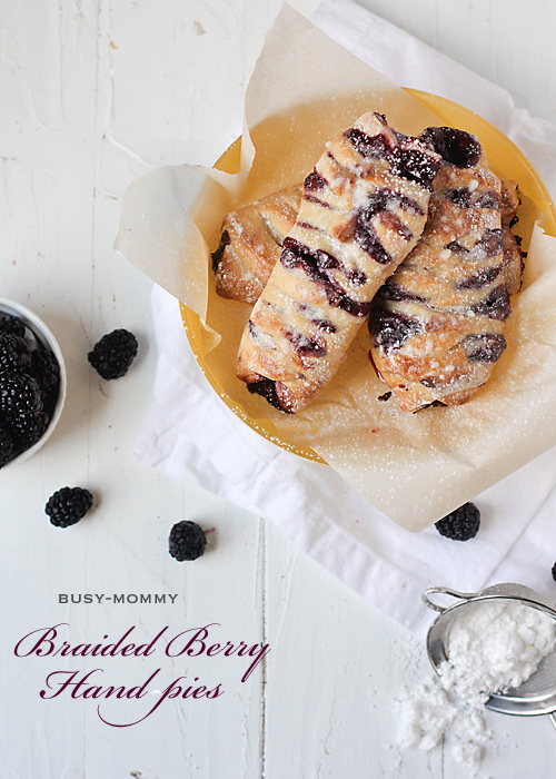 Braided Berry Hand Pies // via Busy Mommy