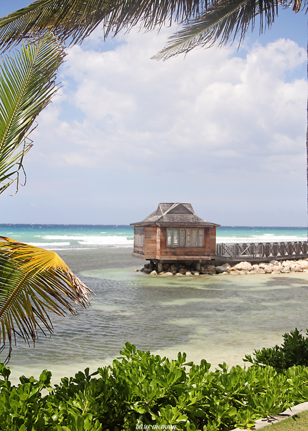 A spa cabana overlooking the ocean in Jamaica. I SO want a spa treatment overlooking those crystal blue waters.