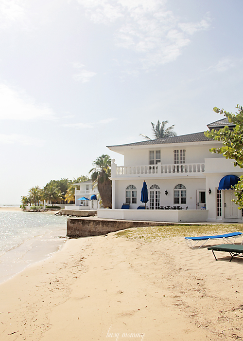 RIGHT on the Jamaican Beach overlooking the crystal blue waters. Prince Harry stayed in these!!