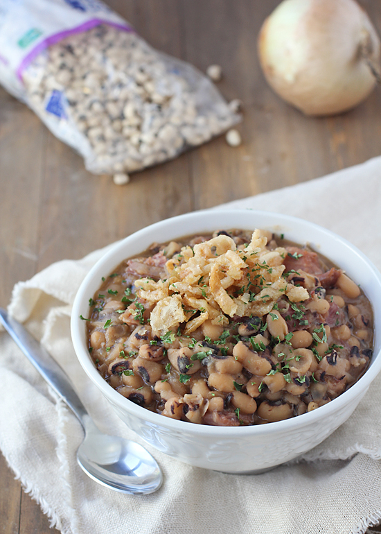 Slow Cooker Ham and Beans. Use a leftover ham bone after the holidays!