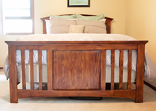 Is your ugly box spring showing? Here's how to fix that....