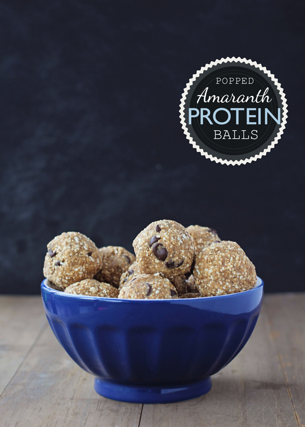 Popped Amaranth Protein Balls. Amaranth is a tiny gluten-free grain that you can pop like popcorn. How cool!