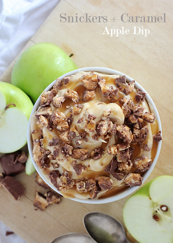 Snickers and Caramel Apple Dip. Everybody loves this!!