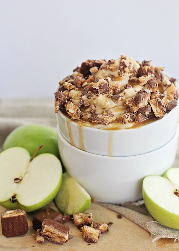 Snickers + Caramel Apple Dip..... OH. MY.