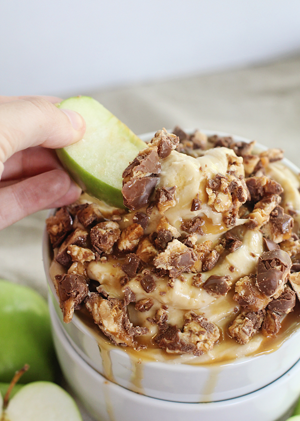 Snickers and Caramel Apple Dip. This stuff is addicting!