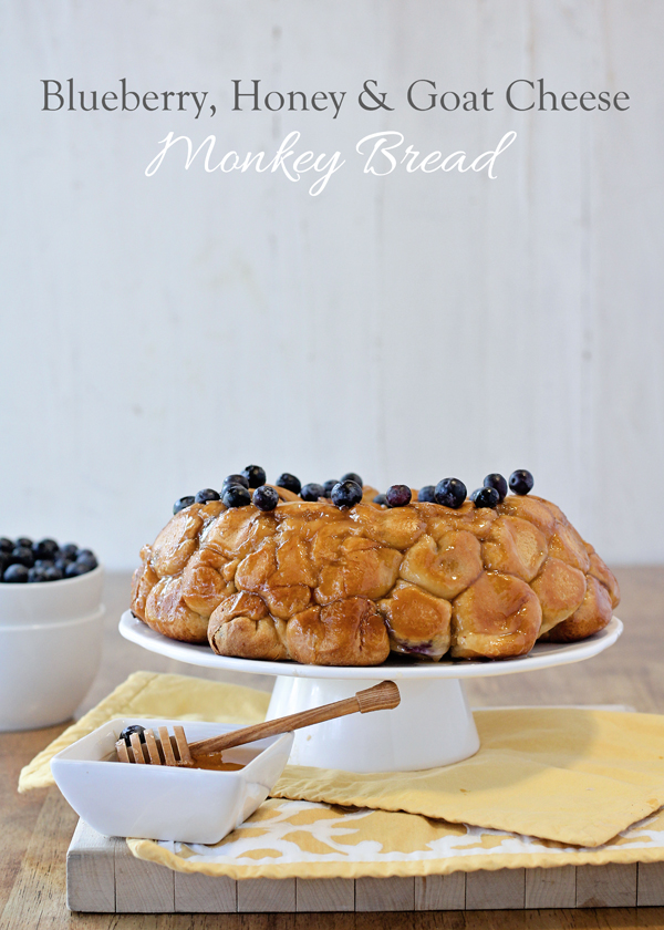 Blueberry, Honey and Goat Cheese Monkey Bread.