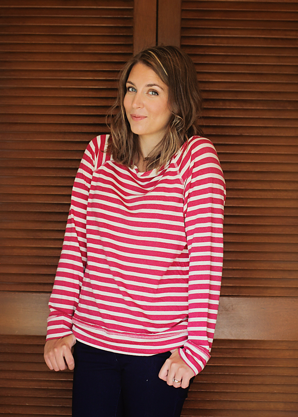Gretchen Striped Raglan Sweatshirt