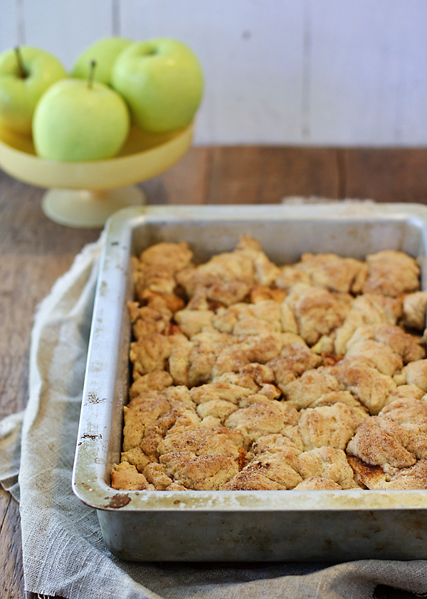 Apple Crisp with a Snickerdoodle Cookie Crust