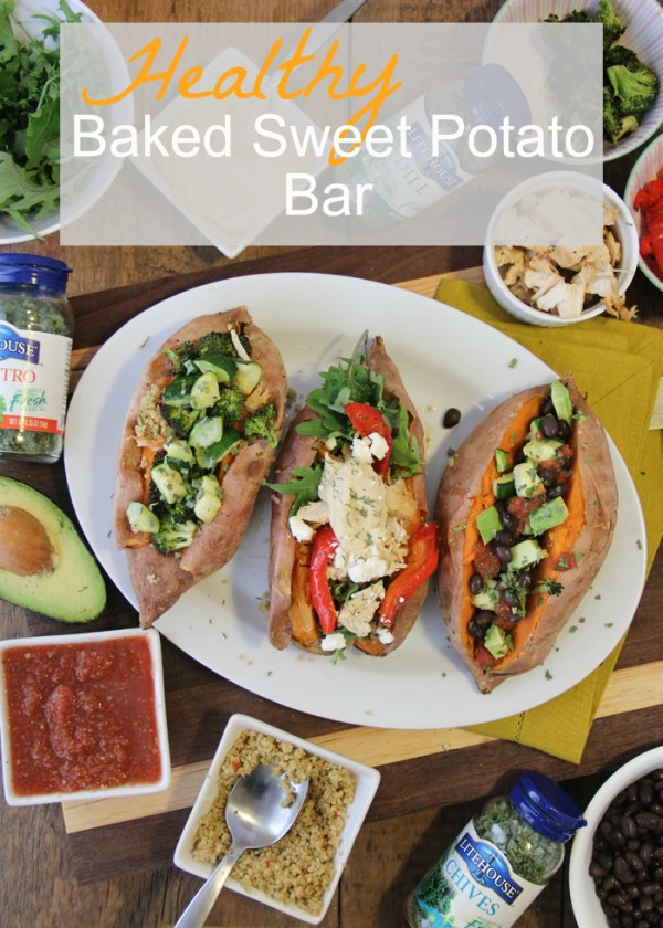 Healthy Baked Sweet Potato Bar.