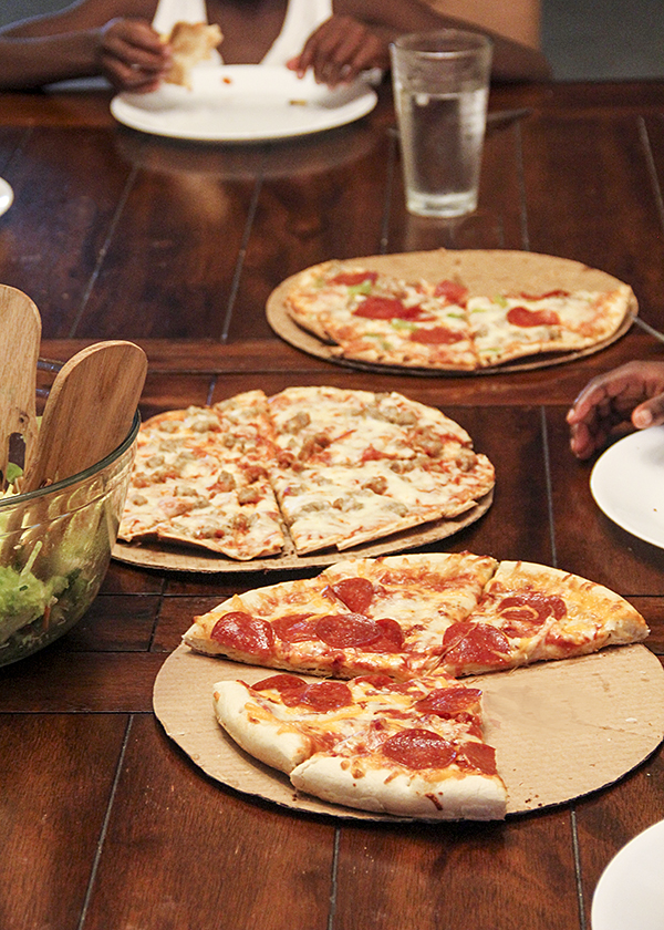 Meal helper: frozen pizza