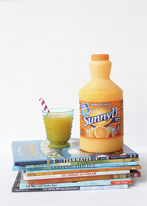 Sunny D will donate books to your classroom!
