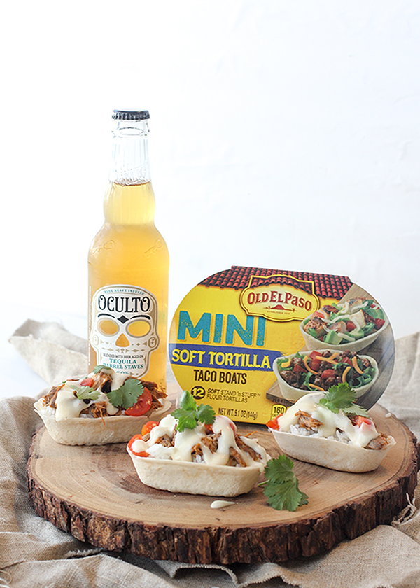 Mini Burrito Bowls with Beer Cheese Sauce