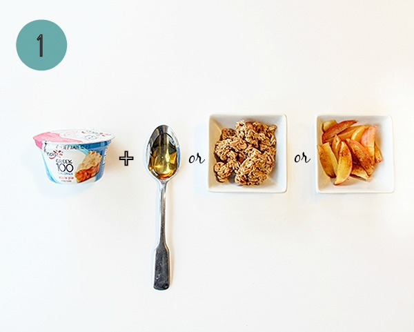 One way to 1-up your yogurt cup: honey, granola or cinnamon and sugar apples