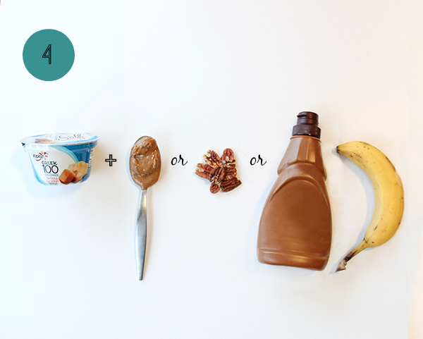 One way to 1-up your yogurt cup: peanut butter, pecans, caramel and banana