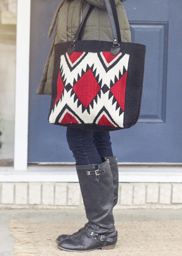 The Jagged Diamonds Tote Bag from Manos Zapotecas- ethical and fair trade purses made in Mexico.
