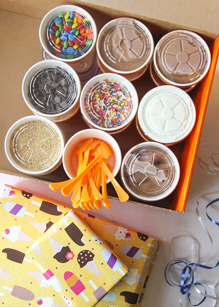 Orange Leaf Pop Up Party Boxes