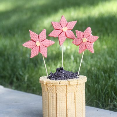 Inspired by Voortman Flower Pot Wafer Cookie Creation