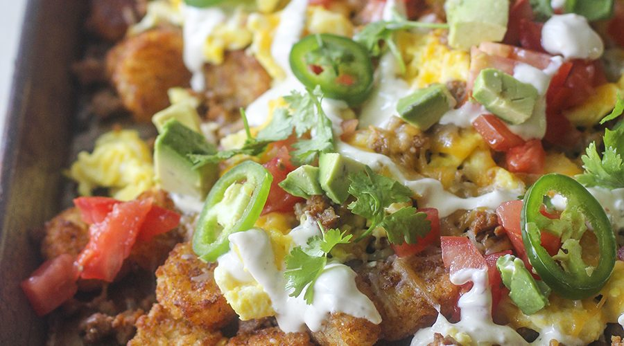 Chorizo and Egg Breakfast Totchos