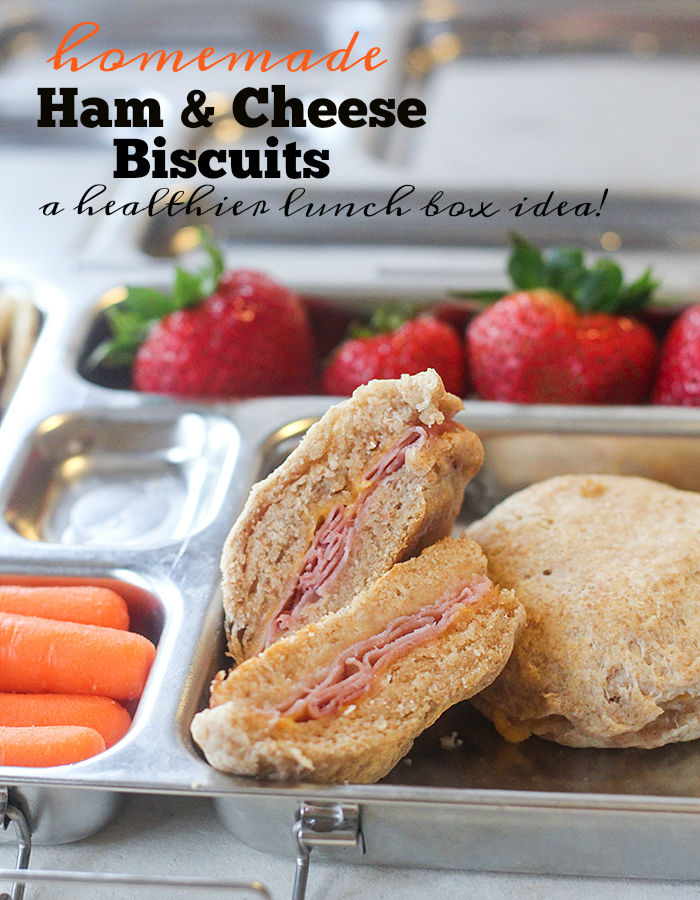 Homemade ham and cheese biscuits for lunch boxes