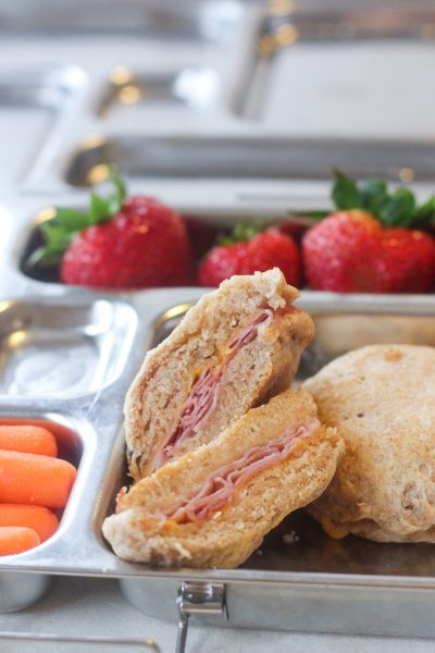 Lunch Box Ham and Cheese Biscuits