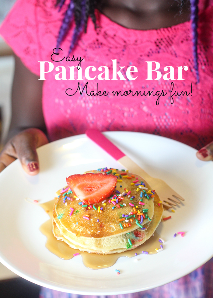 Make mornings fun with an easy pancake bar!