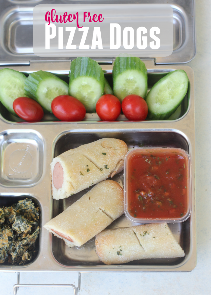 Gluten Free Pizza Dogs.