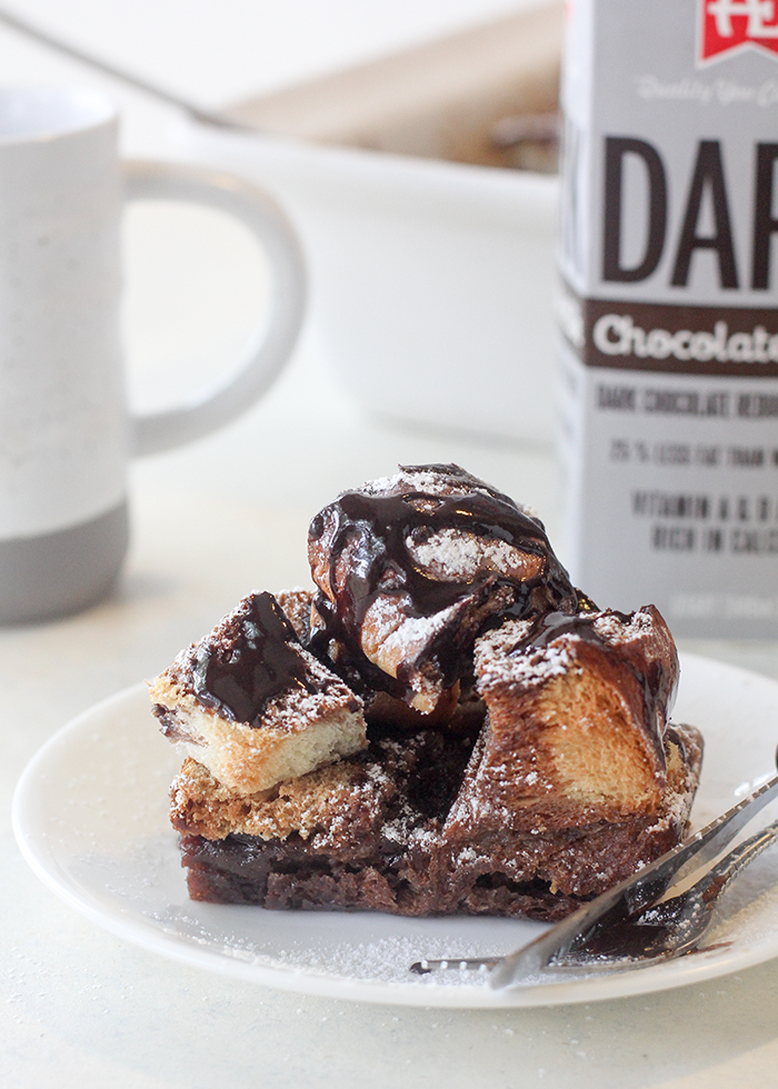 Dark chocolate french toast