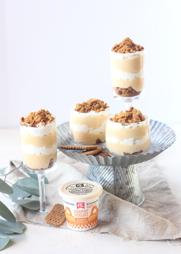 These pumpkin cheesecake parfaits come together in less than 20 minutes!