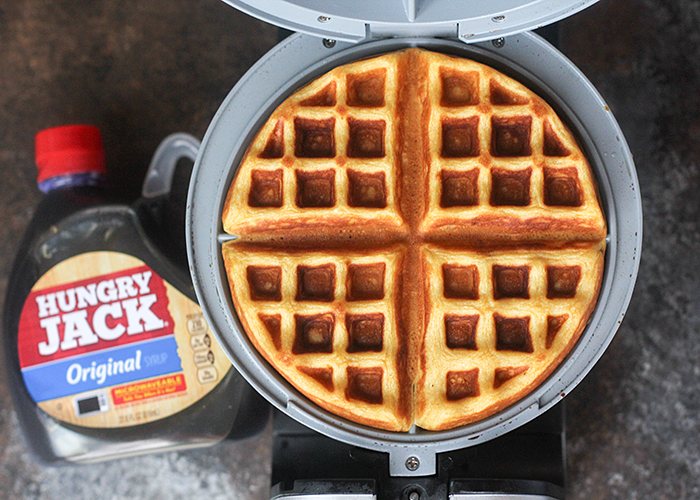 Easiest Pumpkin Waffles